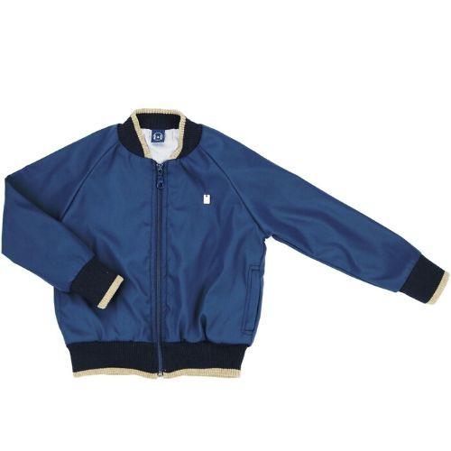 Jaqueta Bomber Masculina Infantil Azul Marinho Logo Metálico