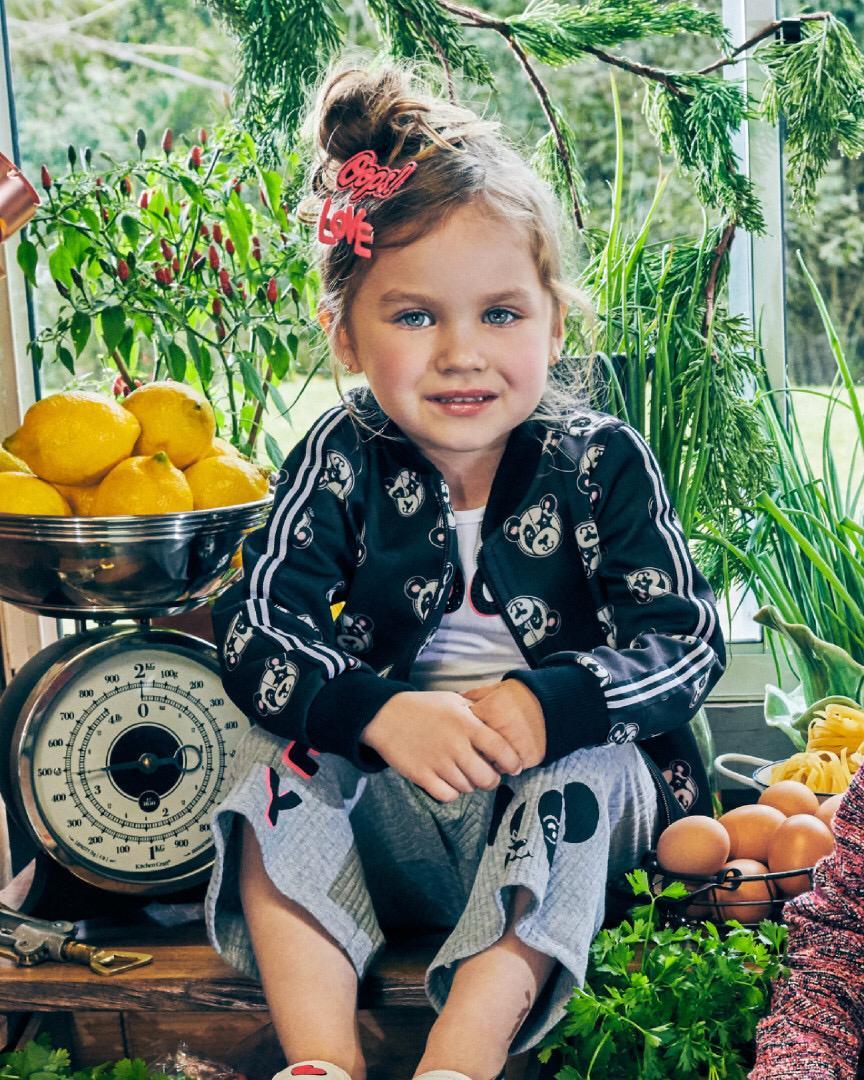 Jaqueta Bomber Infantil Feminina Preta Pandinhas