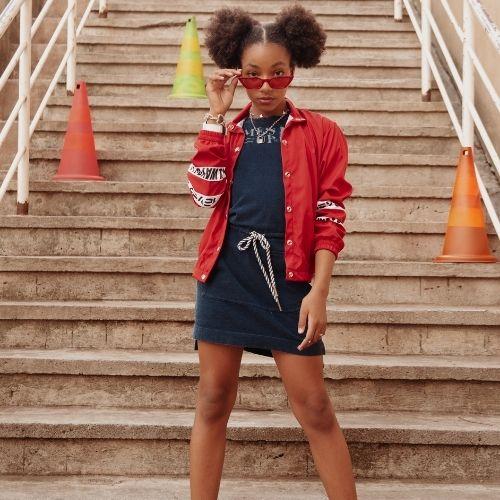 Jaqueta Infantil Feminina Vermelha