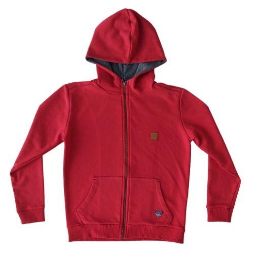 Jaqueta Moletom Infantil Masculina Vermelha