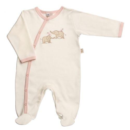 Macacão Bebê Feminino Elefantinha com Proteção Antiviral