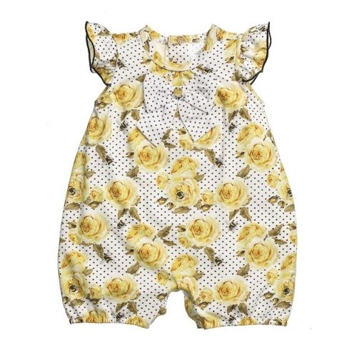 Macacão Bebê Feminino Estampa de Flores
