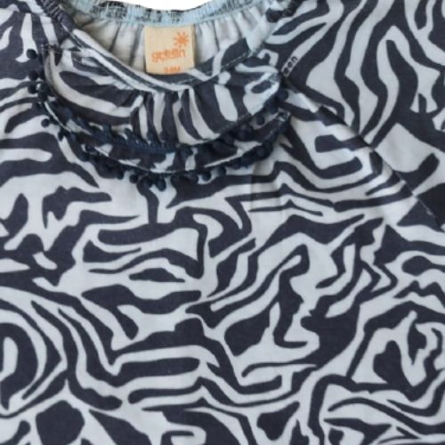 Macacão Bebê Feminino Zebra Azul