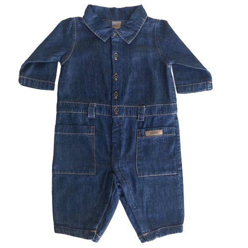Macacão Masculino Bebê Jeans