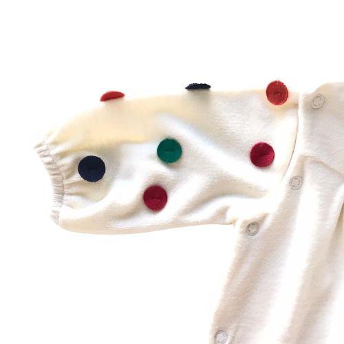 Macacão Feminino Bebê Plush com Bolinhas Coloridas