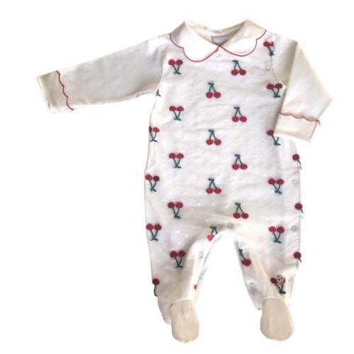 Macacão Feminino Bebê Tule Cerejinhas