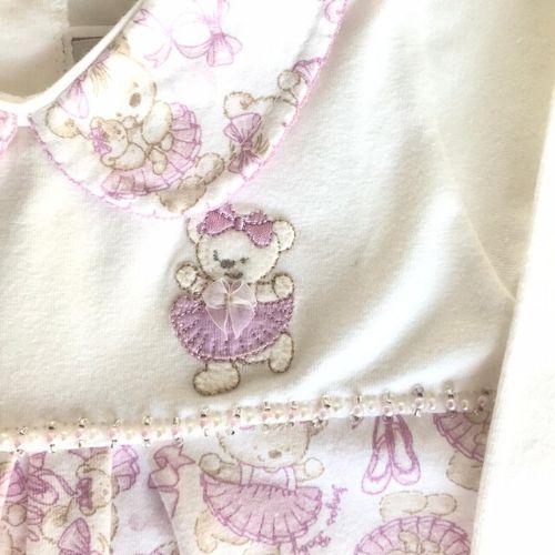 Macacão Feminino Bebê Ursinhas Bailarina