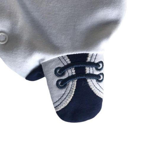 Saída de Maternidade Masculina Branca com Colete e Gravatinha