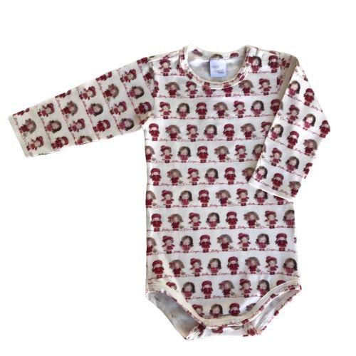 Salopete Feminino Bebê Vermelho com Body Menininhas