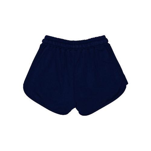 Short Infantil Feminino Barra Arredondada Azul Marinho