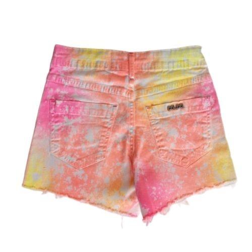 Short Infantil Feminino Sarja Tie Dye