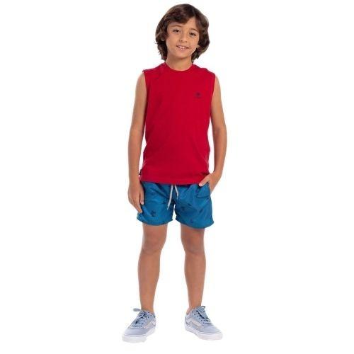 Short Infantil Masculina Tencel Estampado