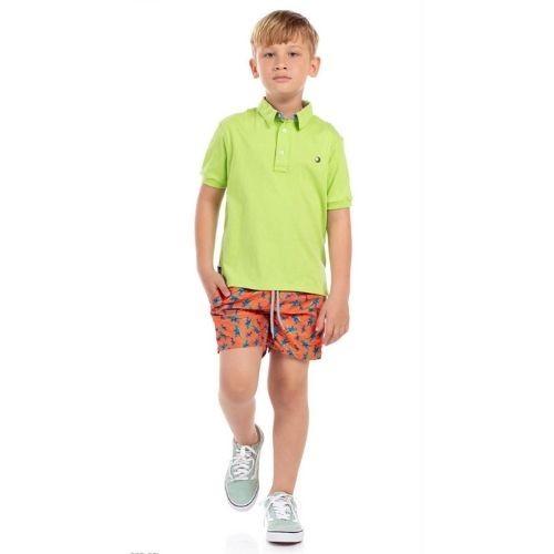 Short Infantil Masculino Tencel Estampado
