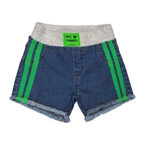 Short Jeans Infantil Feminino com Cós Moletom Momi