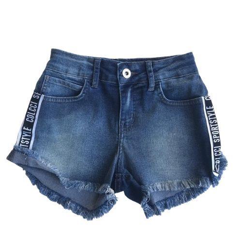 Shorts Jeans Feminino Infantil Sportstyle