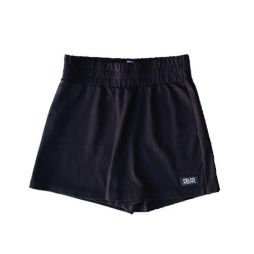 Shorts Saia Feminino Infantil Cós Largo