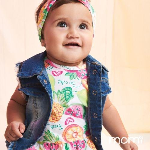 Vestido Bebê Feminino Frutinhas
