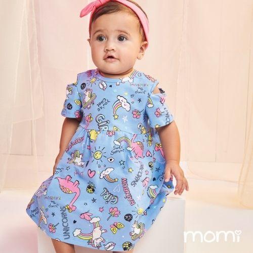 Vestido Bebê Feminino Unicórnios
