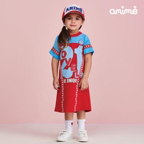 Vestido Infantil Feminino Vermelho Lovely