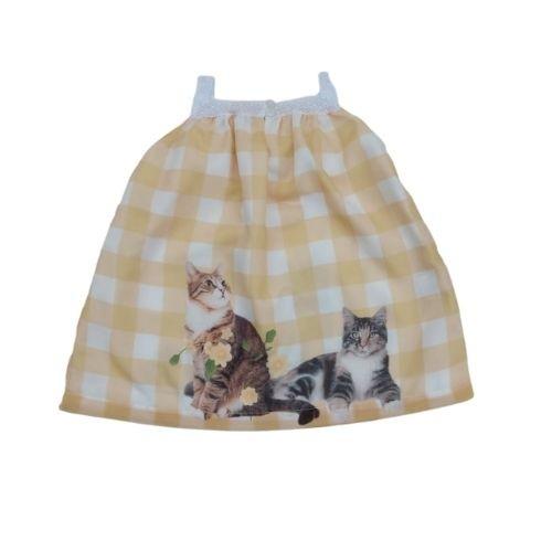 Vestido Feminino Infantil Xadrez Estampado
