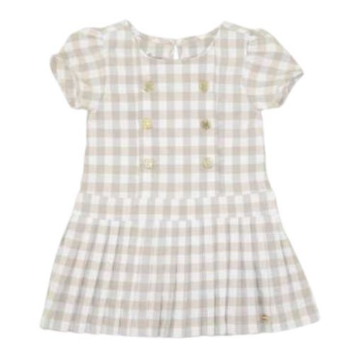 Vestido Feminino Infantil Xadrez Saia Plissada