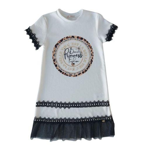Vestido Infantil Feminino Barra Tule