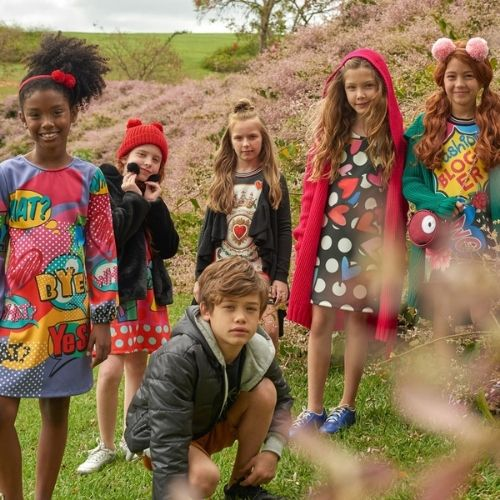 Vestido Infantil Feminino Colorido 1+1