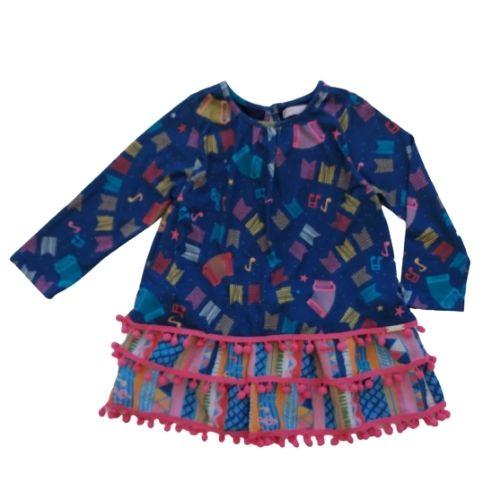 Vestido Infantil Feminino com Babados
