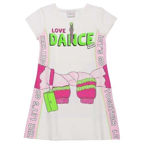Vestido Infantil Feminino Love Dance