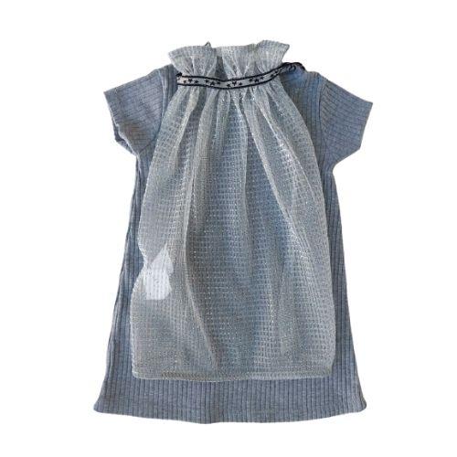 Vestido Infantil Feminino com Capa de Tule Animê