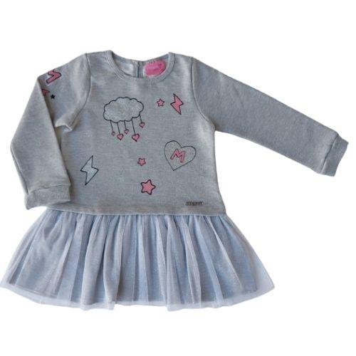 Vestido Infantil Feminino com Saia Tule