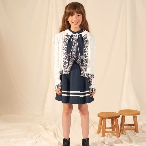 Vestido Infantil Feminino Faixa com Logomarca