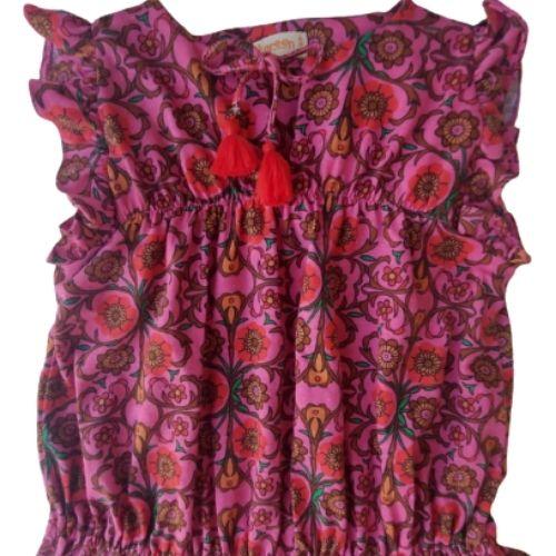 Vestido Infantil Feminino Florido Green By Missako