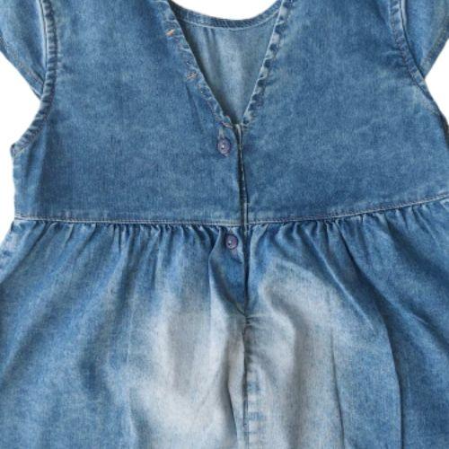 Vestido Infantil Feminino Jeans Batata Frita