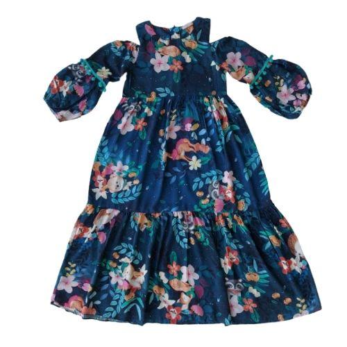 Vestido Infantil Feminino Longo Estampado
