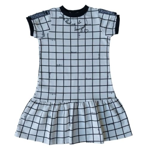 Vestido Infantil Feminino Moletom Quadriculado