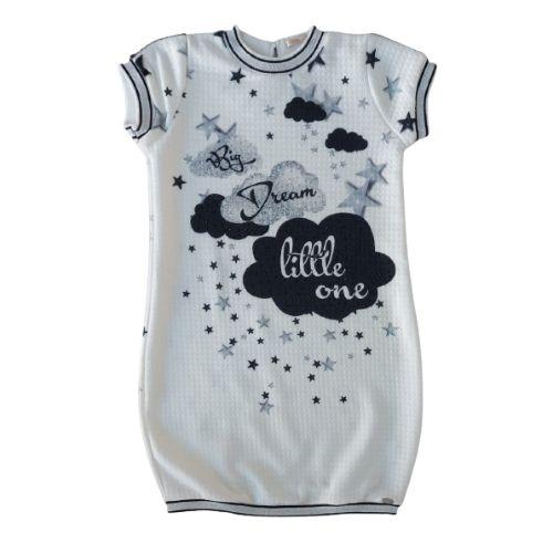 Vestido Infantil Feminino Nuvens Petit Cherie