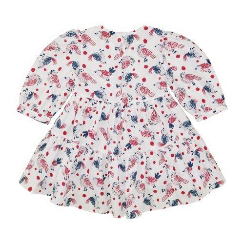 Vestido Infantil Feminino Pássaros