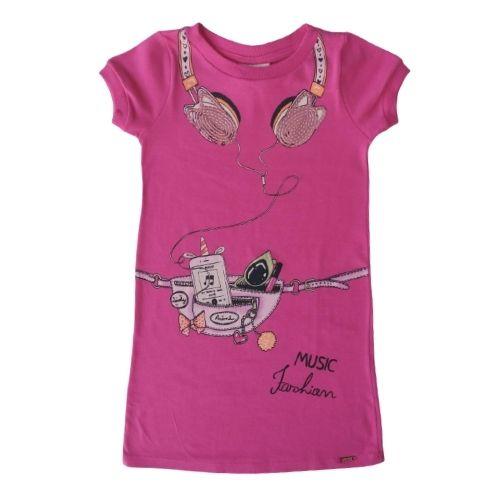 Vestido Infantil Feminino Pink Fone de Ouvido