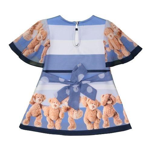 Vestido Infantil Feminino Poá Ursinhos