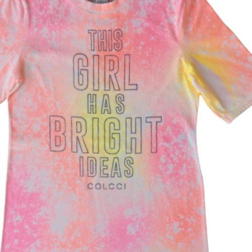 Vestido Infantil Feminino Tie Dye