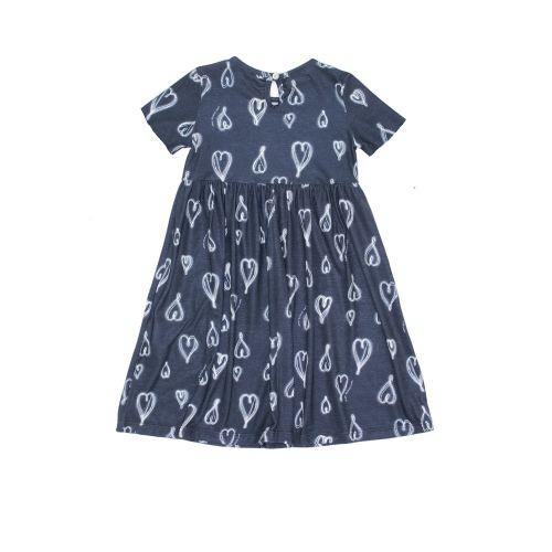Vestido Infantil Feminino Longo com Corações