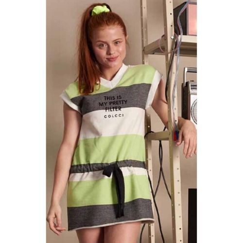 Vestido Infantil Feminino Moletom Listras This My Pretty