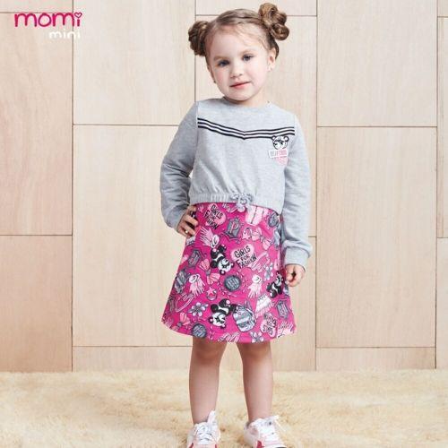 Vestido Infantil Feminino Pandinhas com Blusa Moletom