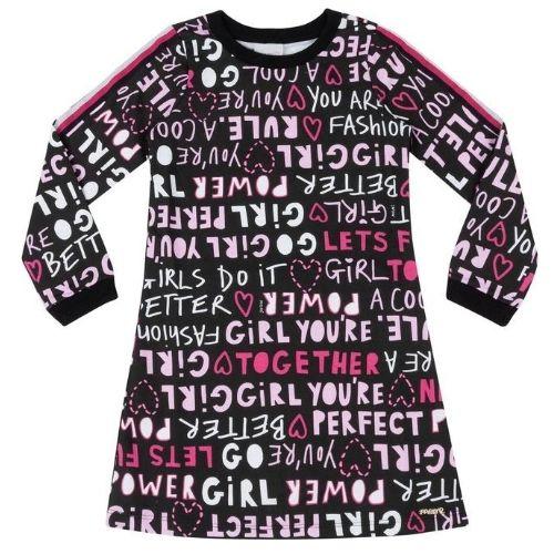 Vestido Infantil Feminino Preto Girl Power