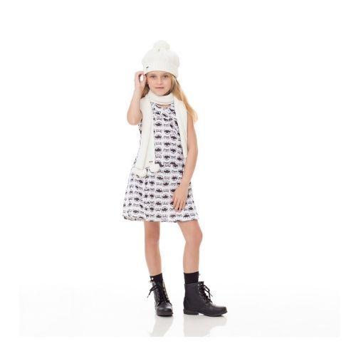 Vestido Infantil Feminino Regata Olhinhos