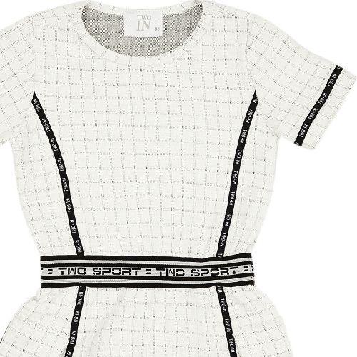 Vestido Infantil Feminino Tweed com Bolsos