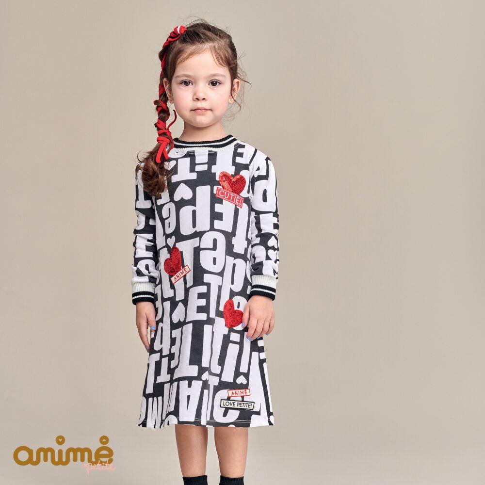 Vestido Infantil Feminino Moletinho Lettering