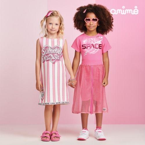 Vestido Regata Infantil Feminino Branco com Listras