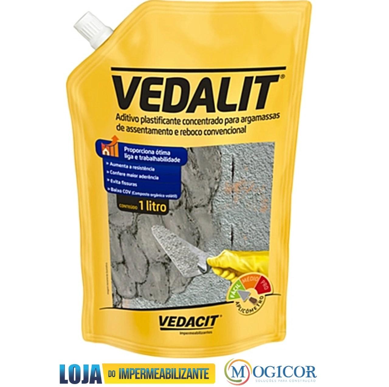 Aditivo Impermeabilizante Vedalit p/ Argamassas e Rebocos - Vedacit